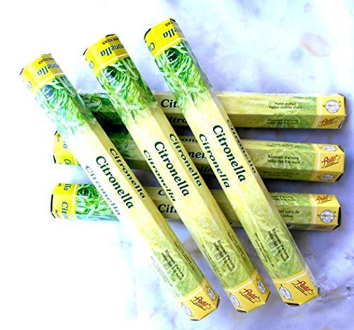 Flute Räucherstäbchen incense Citronella 6 x 20 Stück gegen Mücken/Wespen