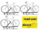 3 x Car Roof Bar Mount Cycle Carrier - Transport 3 Bikes -...