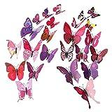 westeng 12Stück 3D Schmetterling Wand Aufkleber Crafts Schmetterlinge für Home Zimmer Dekoration DIY Design