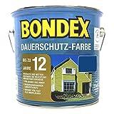 Bondex Dauerschutzfarbe 2,5 l - RAL 5010 enzianblau, für Holz Innen und Außen