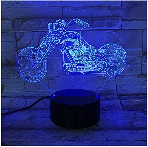 Nachtlicht Nachttischlampe Motor Bike Nachtlicht 7 Farben Ändern 3D Led Lampen Riesenrad Racing Motorrad Tragbare Lichter Freunde Kinder Geburtstag Licht -