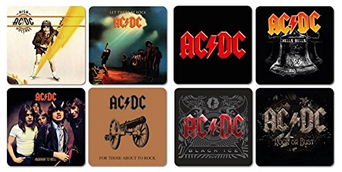 AC DC - Sottobicchieri Coaster Set di 8 - Best of Mix