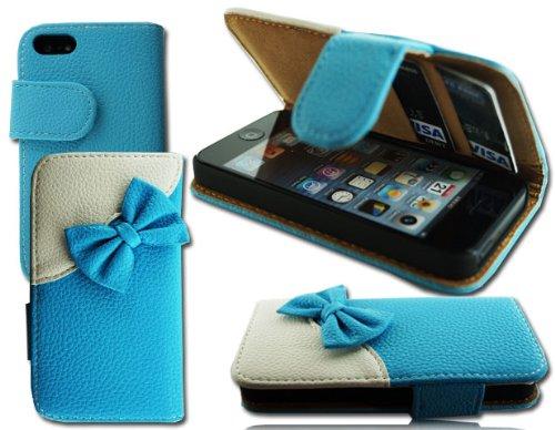 Stilvolle Leder Schleife Flip Wallet Schutzhülle Apple i Phone 64.7Plus 5,5