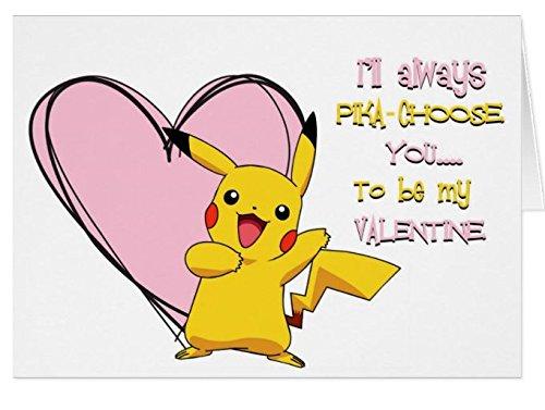 Pokemon Pikachu Valentine 's Day Karte–süßen (Pokemon Geschenk-karte)