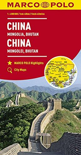 Chine, Mongolie, Bouthan 1 : 4 Mio