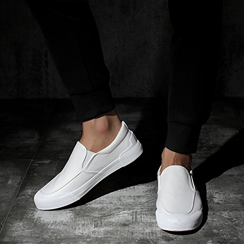 Chaussures de toile Hommes Chaussures de toile Hommes Chaussures de sport en plein air Exercice Sneakers travail ( Color : Rouge-43 ) Blanc-44