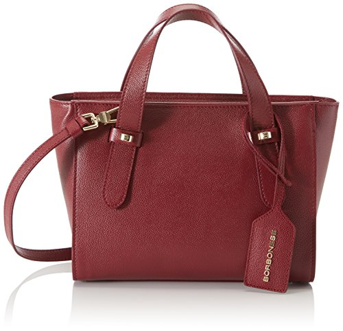 Borbonese 923679j04, Borsa a Mano Donna, 25x20x11 cm (W x H x L) Rosso (Burgundy)