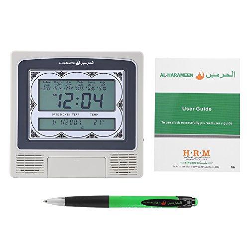 Muslim Islamische Betende Uhr Azan Athan Gebet Alarm Wand Tischuhr mit Stift