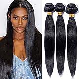Meche Bresilienne Tissage Bresilien Lisse Extensions Cheveux Naturel Pas Cher #1B...