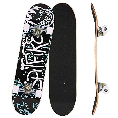 Bunao Skateboard Komplettboard 31 x 8 Zoll mit ABEC-7 Kugellager 9-lagigem Ahornholz für Kinder Jungendliche und Erwachsene, Belastung 100kg (Farbe 5)
