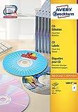 Avery Zweckform L6043-100 CD-Etiketten (A4, 200 Stück,  117 mm) 100 Blatt weiß