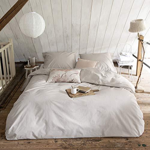 81c90b3b92 Walra Bettwäsche The New Vintage Sand, Uni 100% Baumwolle Perkal User Look