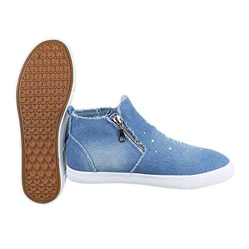 Ital-Design - Pantofole a Stivaletto Donna Blau