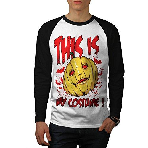 Halloween Kostüm Horror Herren XL Baseball lange Ärmel T-Shirt   (Halloween Kostüme Zahn Verwandte)