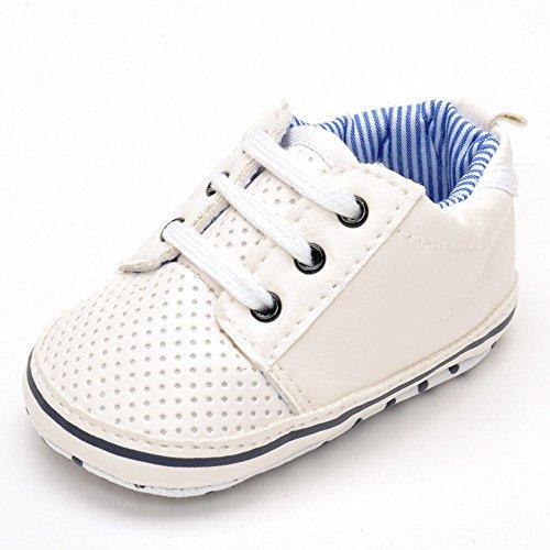Estamico Baby Junge weiß Tennis Schuhe Weiß Größe 3-6 monate