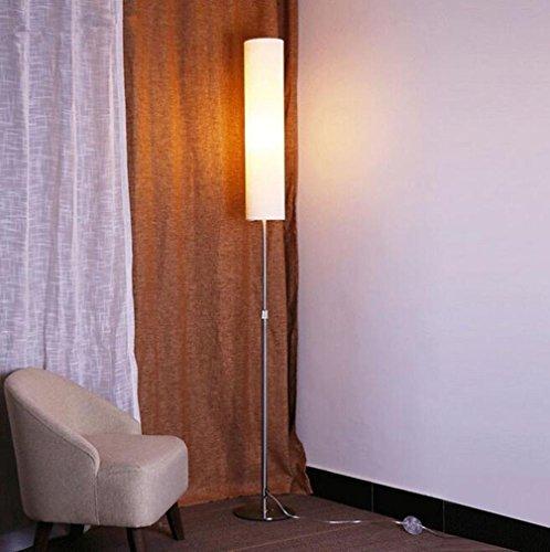 Gebogene Opal Glas (Modernes einfaches kreatives Tuch LED-Augen-Schutz-Stehlampe mit justierbarer Höhe Wohnzimmer-Schlafzimmer-Büro-Stab Studio Aisle Hotel-Galerie-Leselampe , white)