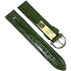 Maurice Lacroix Replacement Band Watch Band genuine Teju-lizard-Leather green 21553S, width:14mm