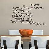 BestOfferBuy Amore Coffee Cups Fagioli Autoadesivo Per Pareti E Per Mobili Decalcomania
