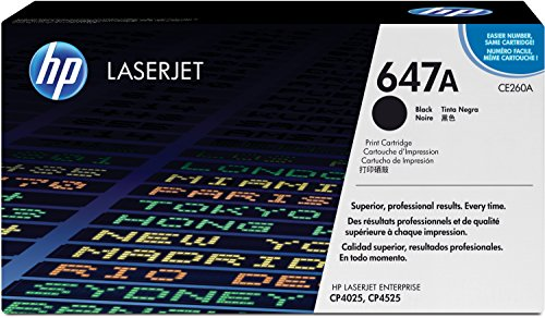Preisvergleich Produktbild HP 647A (CE260A) Schwarz Original Toner für HP Color Laserjet Enterprise CP4025, HP Color Laserjet Enterprise CM4540