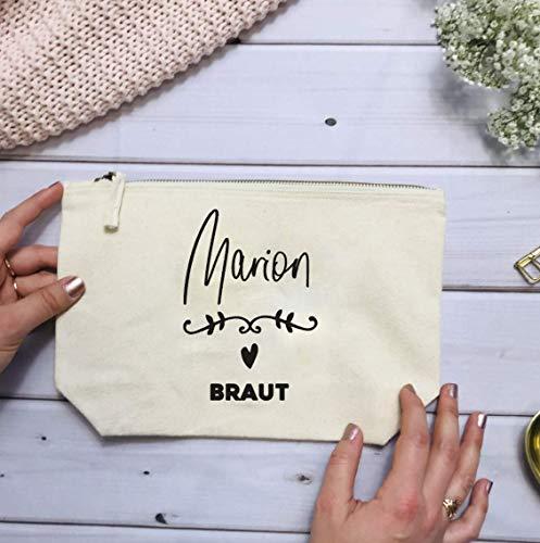 Geschenk Braut Trauzeugin Brautjungfer - personalisierter Kosmetikbeutel