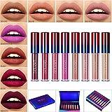 Liquid Lipstick Matte Kit,Afflano Rouge à Lèvres Longue Tenue,Red Pink Rouge Dark...