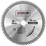 Saxton TCT Circular Holz-Sägeblatt, 160mm x 20mm, 80 Zähne, für Festool TS55, Bosch, Makita, Dewalt, passt auf 165mm Lochs