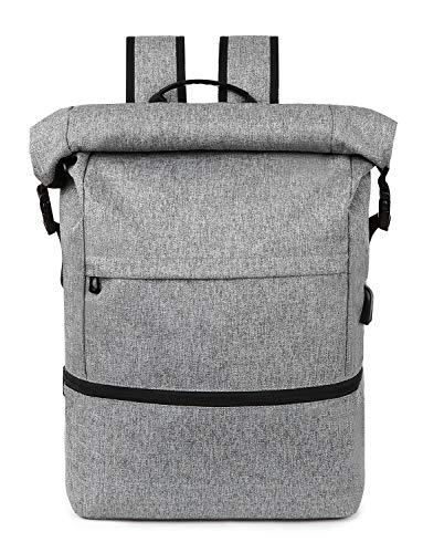 Lixada Laptop Rucksack für Männer Schulrucksack,Multifunktionsrucksack Diebstahlsicherung Tagesrucksack für Business Wandern Reisen Camping, Notebook Rucksack mit USB-Ladeanschluss 12.6/5.7/18.1 Zoll -