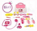 PAMRAY Dottore Medico Kit con Accessori Gioco di Ruolo Bambino Simulazione Giocattolo Apprendimento 15 Pezzi Age 3 e Up Blu Rosa Rosa