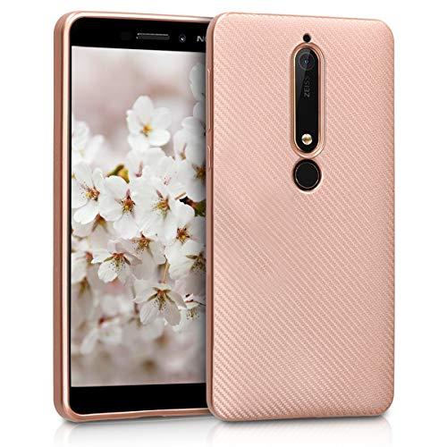 kwmobile Nokia 6.1 (2018) Hülle - Handyhülle für Nokia 6.1 (2018) - Handy Case in Rosegold