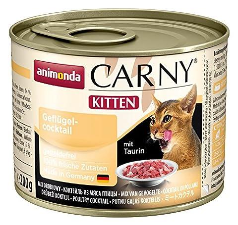 Animonda Katzenfutter Carny Kitten Geflügel-Cocktail, 6er Pack (6 x 200 g)