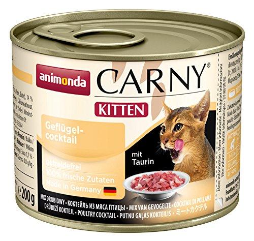 Animonda Katzenfutter Carny Kitten Geflügel-Cocktail, 6er Pack (6 x 200 g) (Katze Nahrung)