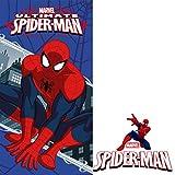 Unbekannt Faro Kinder Duschtuch Badetuch 70x140 423 Spiderman, Baumwolle, Mehrfarbig, 140 x 70 cm