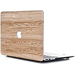 L2W Coque pour Apple (2014~2015) MacBook Pro 13 Pouces avec écran Retina Model A1502/A1425 Ordinateur Portable Accessoires étuis Plastique Imprimé Grain Bois Désign Protections Rigide Housse WMW8