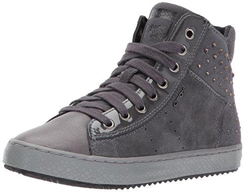 Geox Mädchen J Kalispera Girl E Hohe Sneaker, Grau (Dk Grey), 36 EU (Girls Turnschuhe Kinder)