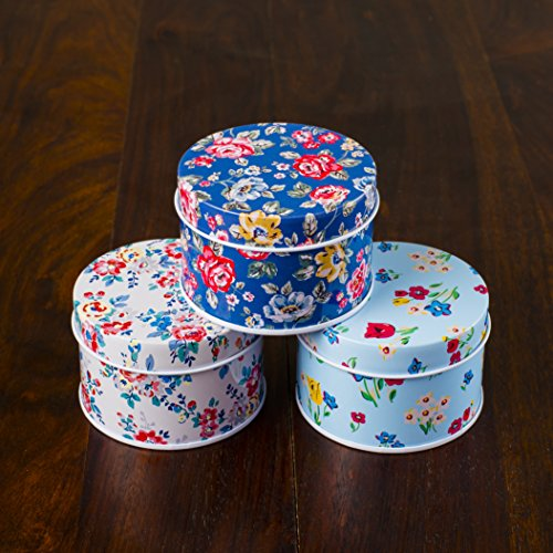 Udara Mix Design Small Round Multipurpose Tin Boxes Set of 3