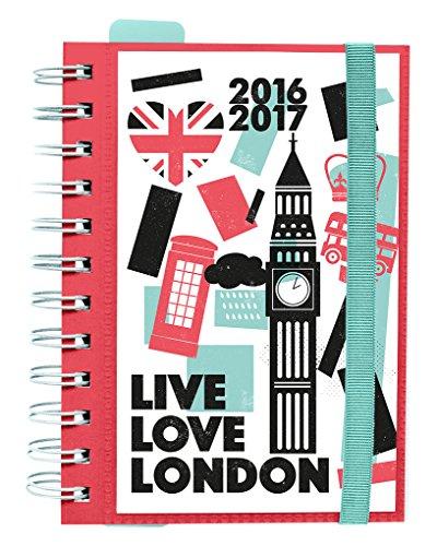 Grupo Erik Editores London - Agenda escolar dp 2016/2017, 11.4 x 16.5 cm