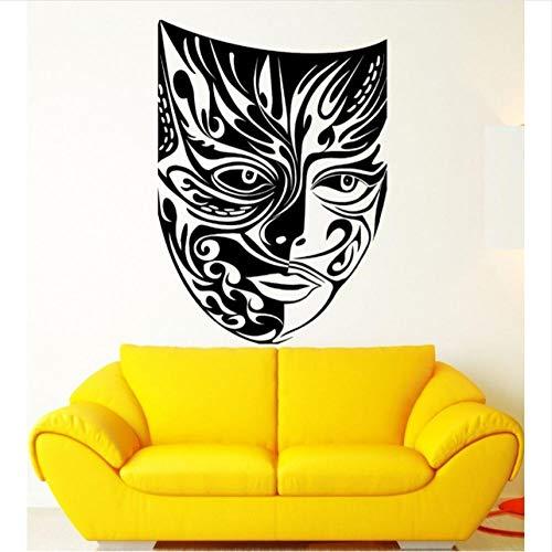 Kreative wand kreative maskerade maske theater kunst muster wandaufkleber tragen maske tribal monster zeichen wandtattoo für jungen zimmer wandbilder