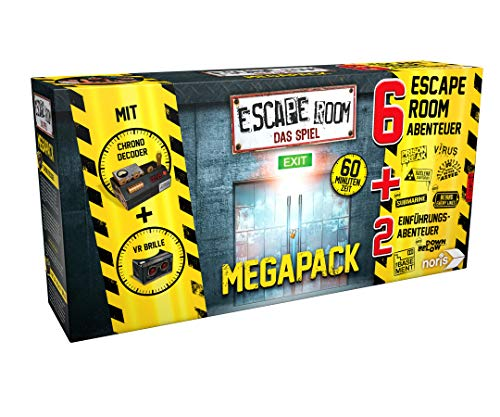 Noris 606101831 Escape Room Mega Pack inkl. 6 Fällen, 2 Mini Games und Chrono Decoder