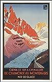 Herbé TM Poster/Reproduction A3+(33x48cm) d1 Affiche Vintage/Ancienne/Rétro Ski Train Chamonix MER de Glace...