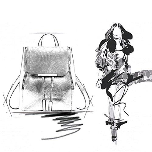 Rucksackhandtaschen,SEARCHALL mode umhängetasche rucksack pu - leder frauen mädchen damen rucksack reisetasche schwarze blumen