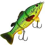 Westin Barry The Bass Sinking 15cm 59g - Swimbait Wobbler zum Spinnfischen auf Hecht & Zander, Hechtwobbler, Hechtköder Spinnköder, Farbe:Crazy Firetiger
