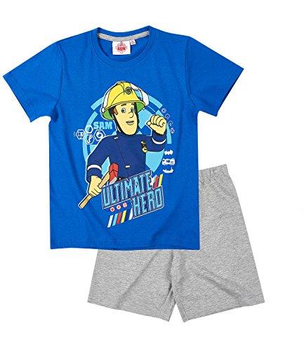 Sam el bombero Chicos Pijama mangas cortas – Azul