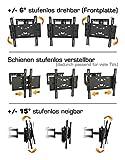 RICOO Wandhalterung TV Schwenkbar Neigbar R23-F Fischer® UX10 Dübel Universal LCD Wandhalter Fernseher und Monitor Halterung Curved Flachbildfernseher 80-165cm 32