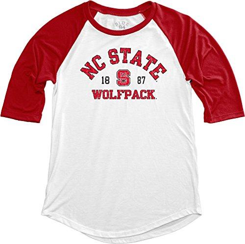 Blue 84 NCAA North Carolina State Wolfpack NCAA Damen Baseball-T-Shirt, Größe L, Rot -