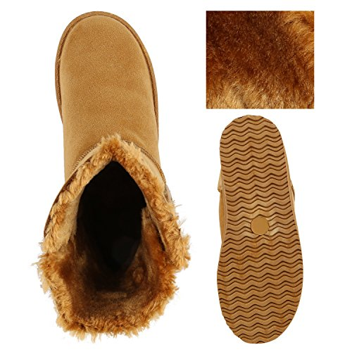 Botão Femininos Marrom De Revestimento Sapatos Deslizamento Quente Luz Botas 6YdwnCnPq