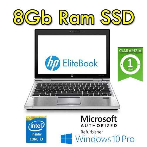Notebook HP EliteBook 2570p i3-3120M 2.5GHz 8Gb 128Gb SSD 12.5in Windows 10 Professional Windows 10 Pro con licenza nuova Simpaticotech MAR Microsoft Authorized Refurbisher (Ricondizionato) )