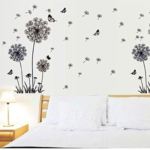 Skyllc® wall sticker parete del dente di leone di disegno della farfalla rimovibile art pvc smontabile creativa dirigono la decalcomania per i bambini da letto soggiorno della decorazione della casa