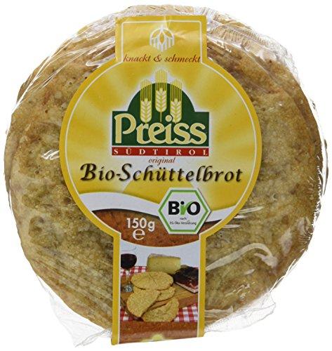 Preiss Bio Südtiroler Original Schüttelbrot 150 g, 6er Pack (6 x 150 g) (Bio-käse)