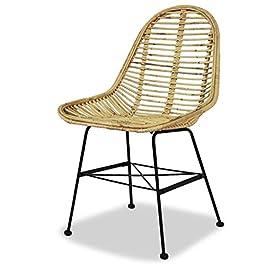 Chaise rotin design