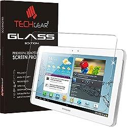 "TECHGEAR® Galaxy Tab 2 10.1"" Verre, Protecteur d'Écran Original en Verre Trempé Compatible pour Samsung Galaxy Tab 2 10.1"" (GT-P5100 Séries)"